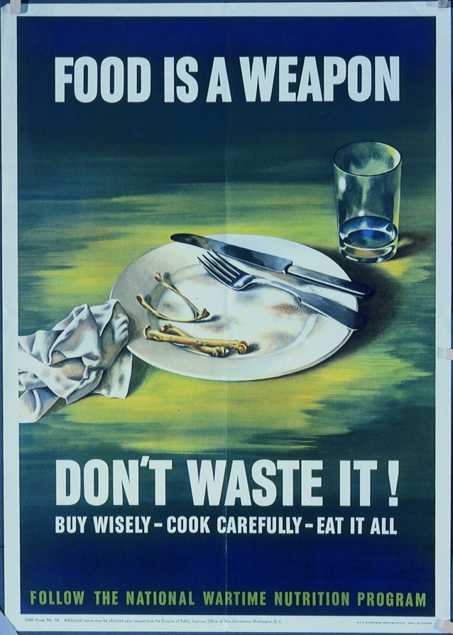 WW2 Food Is A Weapon Poster